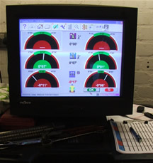 Wheel alignment display for operative